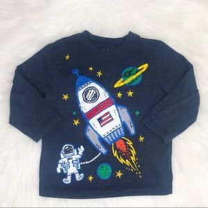 Garanimals Astronaut Graphic Long Sleeve T-Shirt